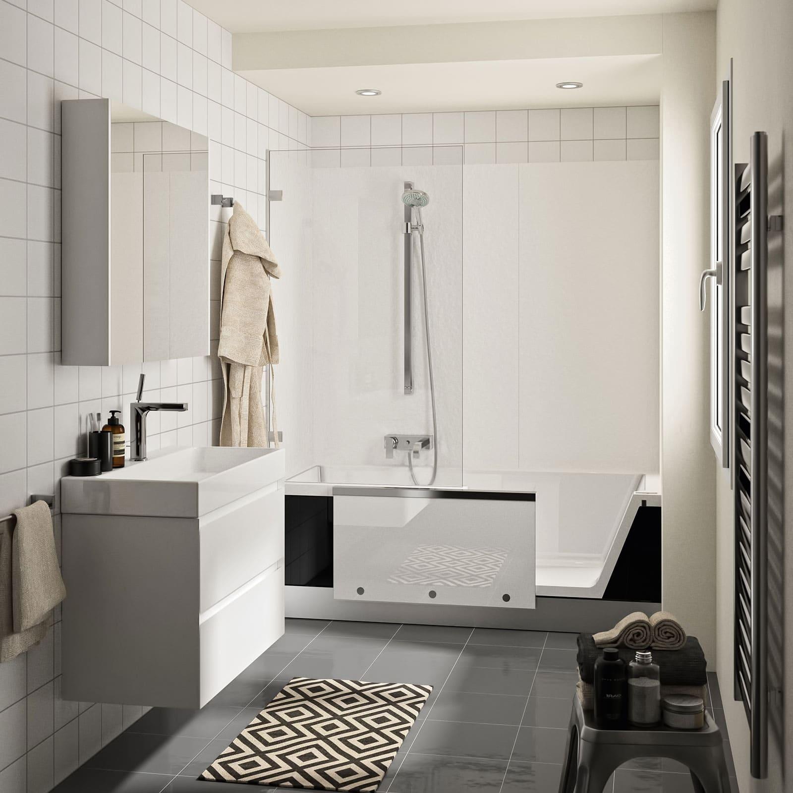 Raum im Wandel Teilsanierung Duschbadewanne Easy-in