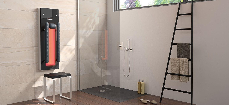 Infrarot Dusche mit Infrarotstrahler für Dusche und Infrarot