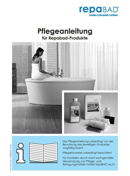 Pflegeanleitung Badewanne reinigen