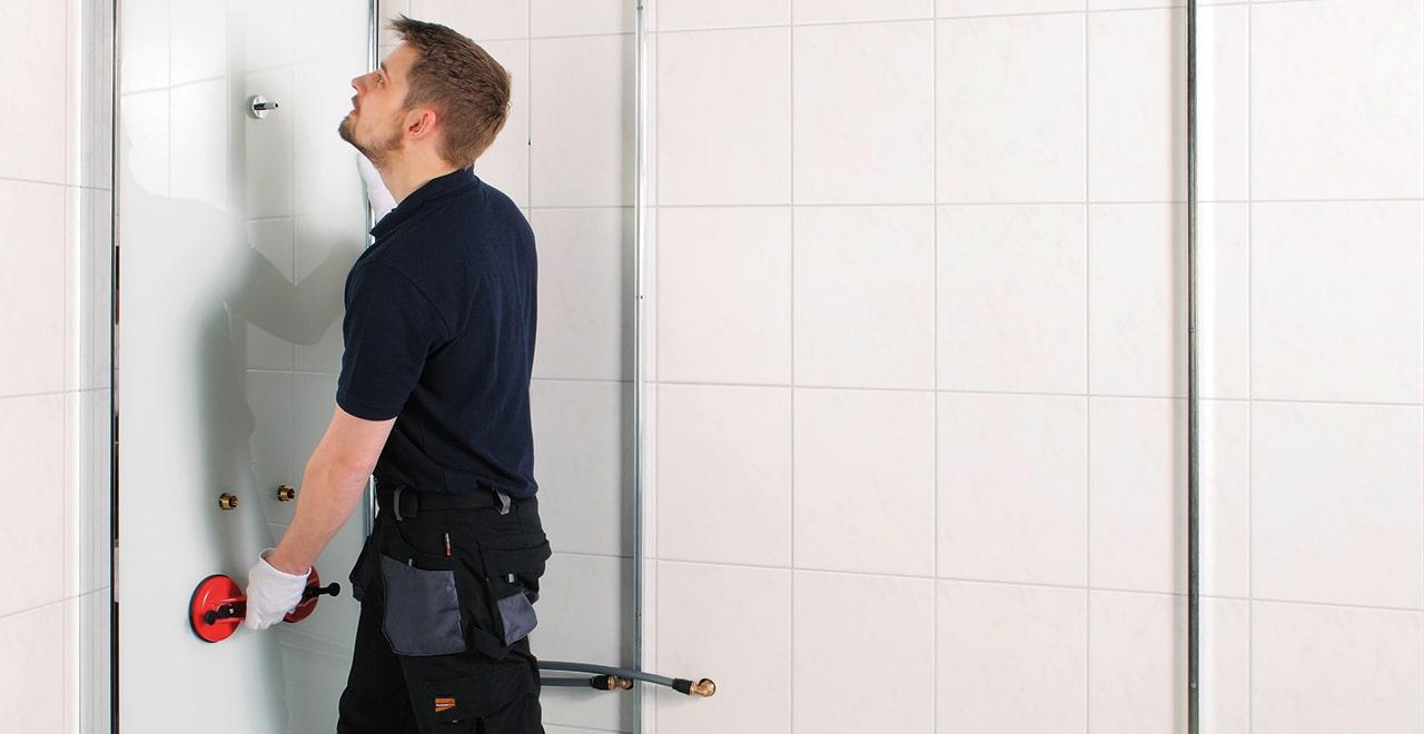 Dusche auf Wanne Anleitung Anbringung Wandverkleidung
