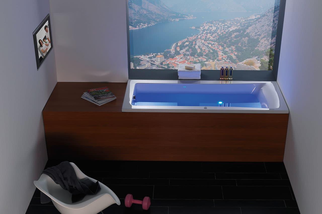 Farblichttherapie Badewanne