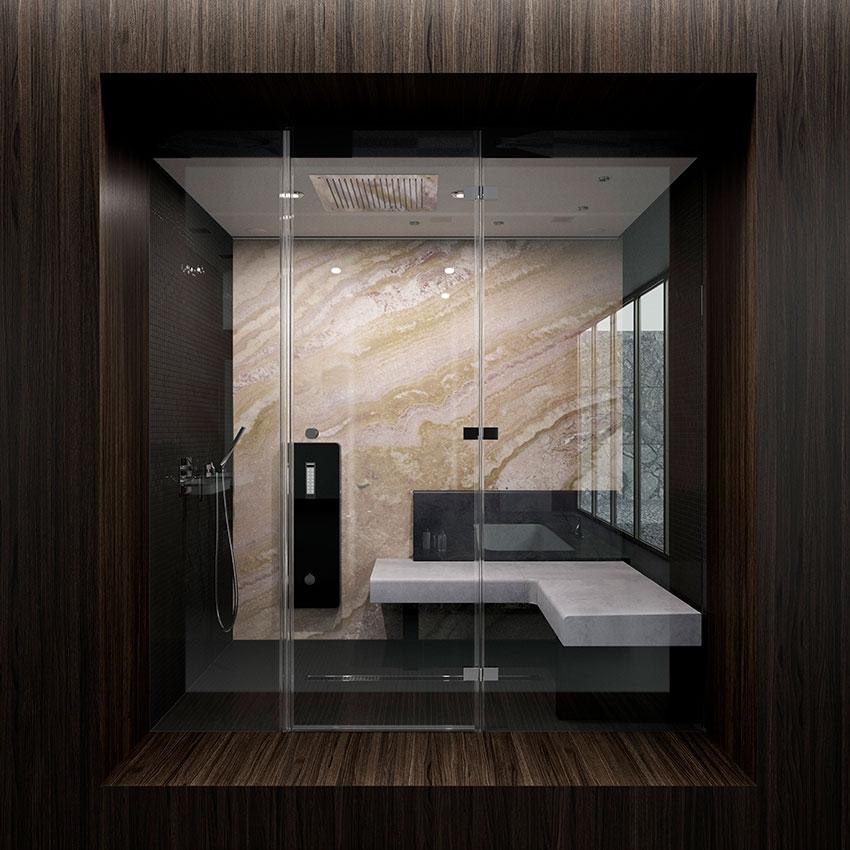 Badgestaltung van der Rohe Badezimmer Holz