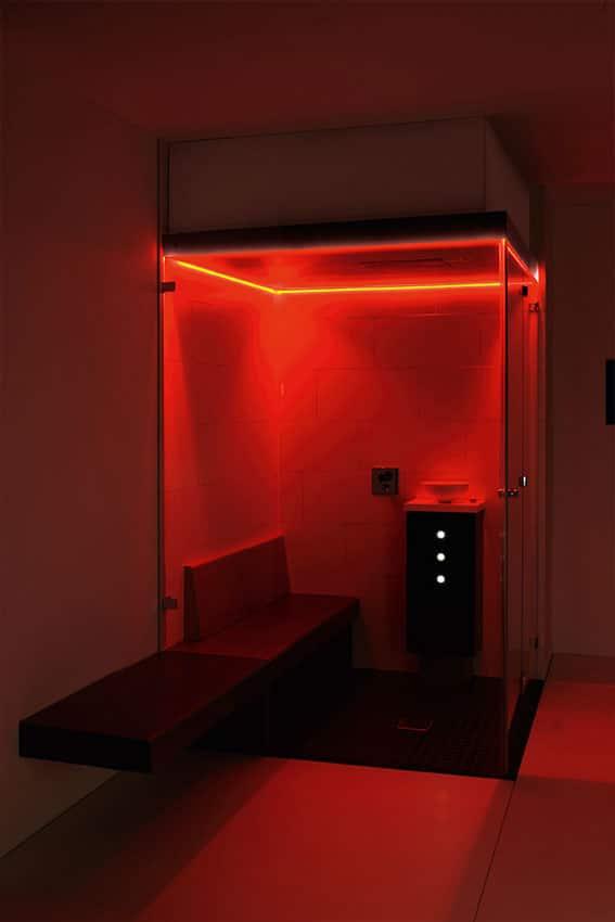 Farblichttherapie indirektes Farblichtsystem rot