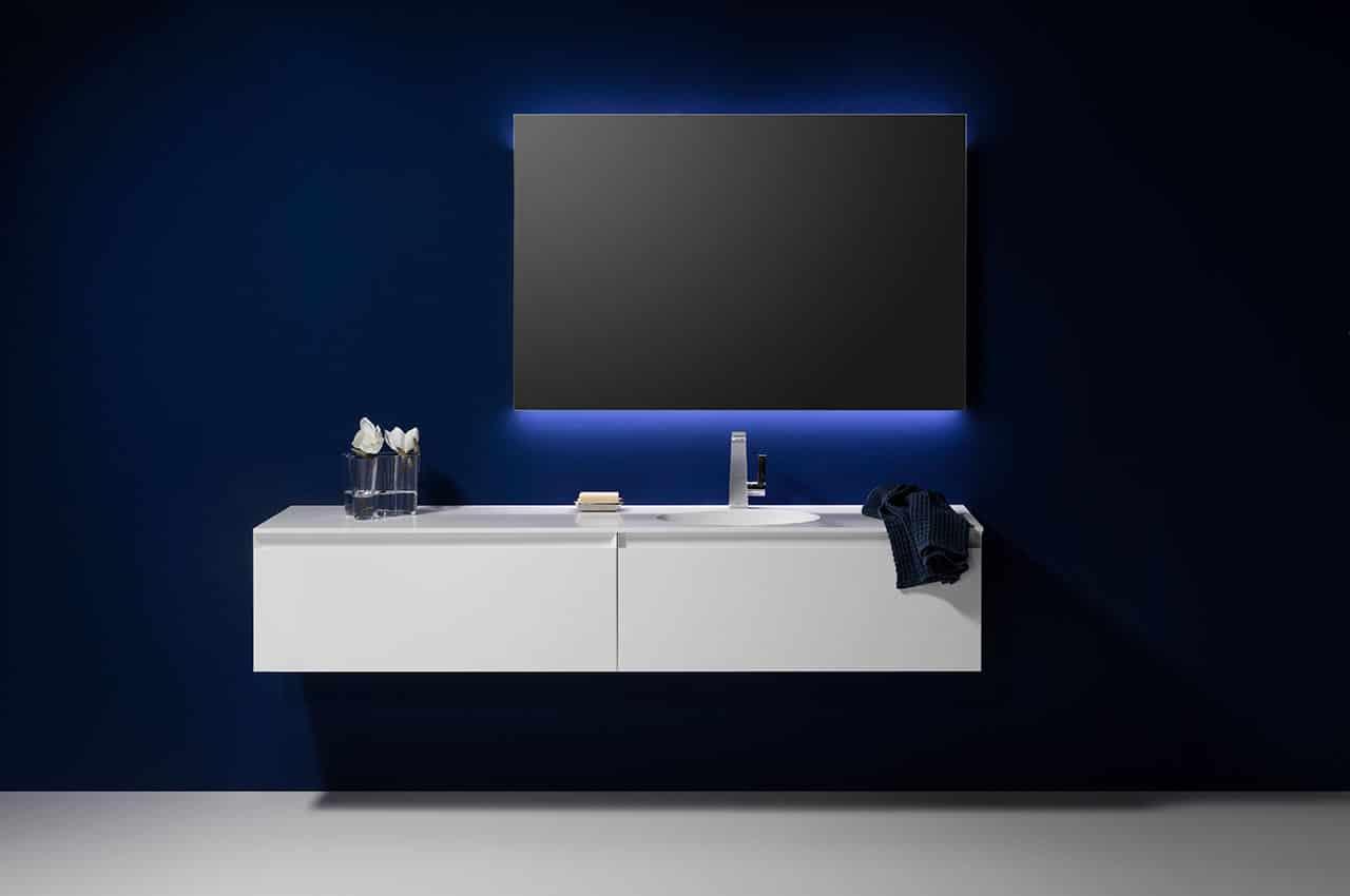 Top Edler Badezimmerspiegel mit Beleuchtung Look 2 für ein modernes Bad NB89
