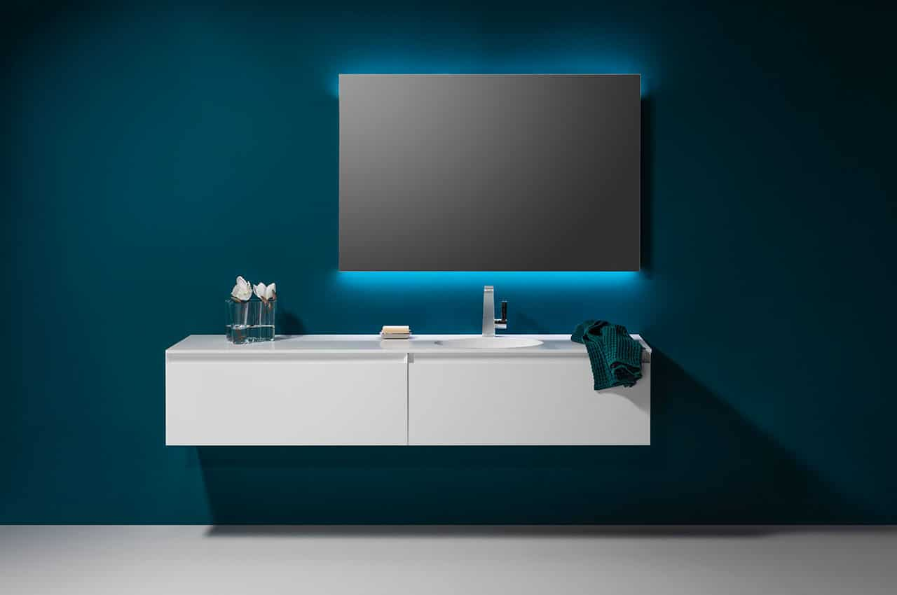 Look 2 Elegant Illuminated Bathroom Mirror For Modern Bathrooms