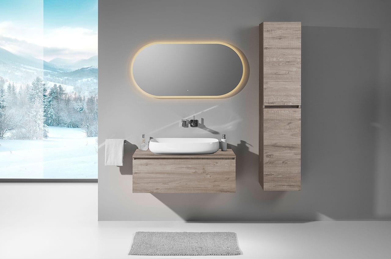 Spiegel Look 11 ovaler Spiegel Bad