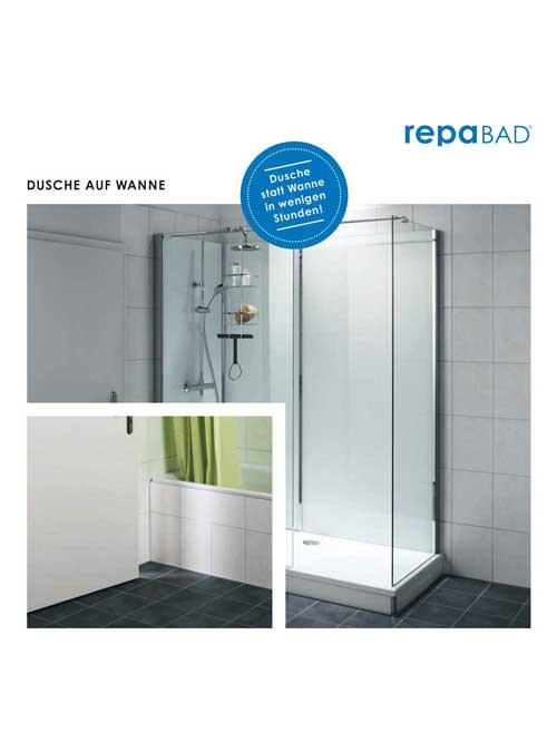 Dusche auf Wanne Broschüre