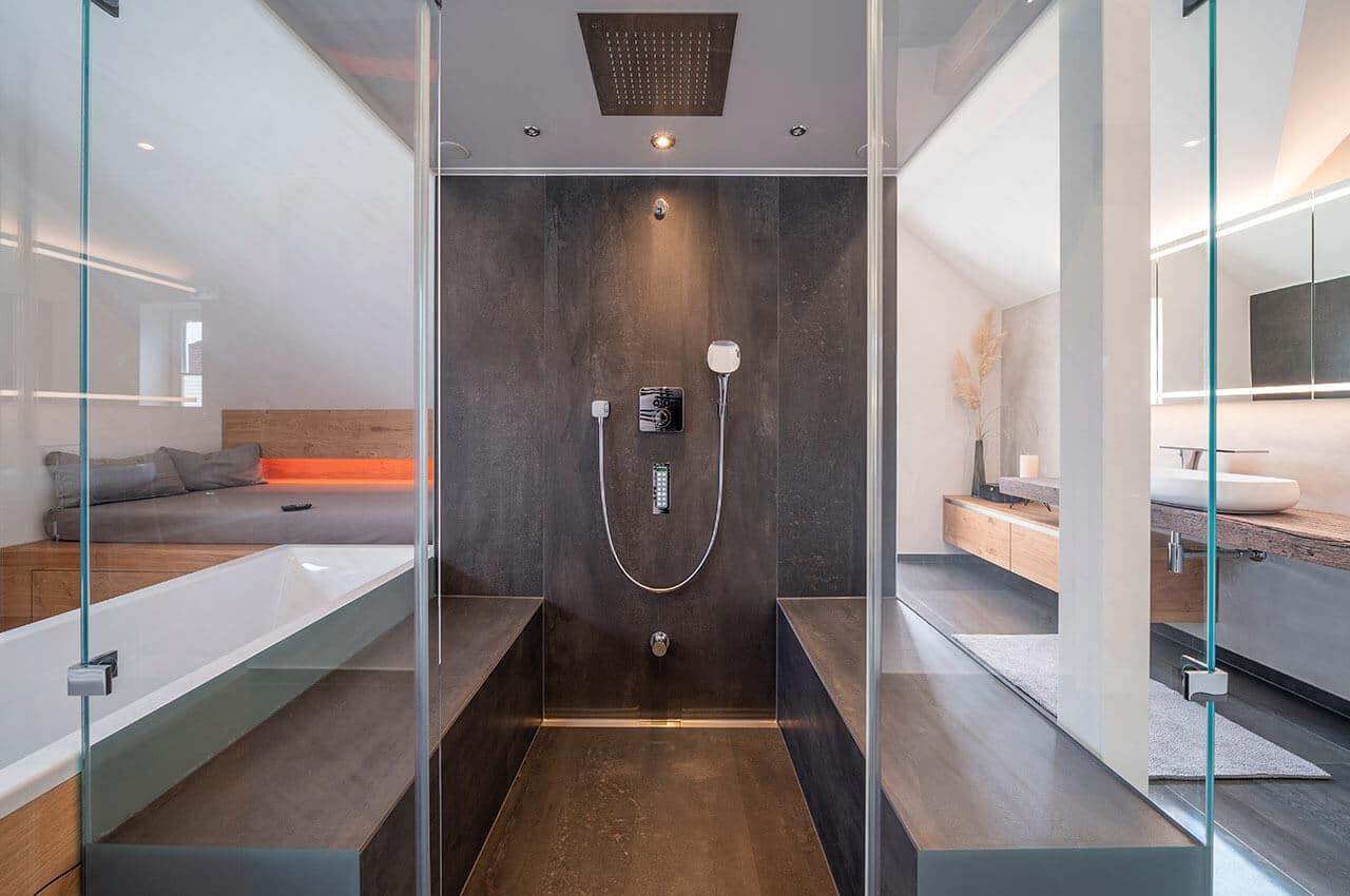 Objektreportage Badezimmer zum Wohlfühlen - Dampfbad