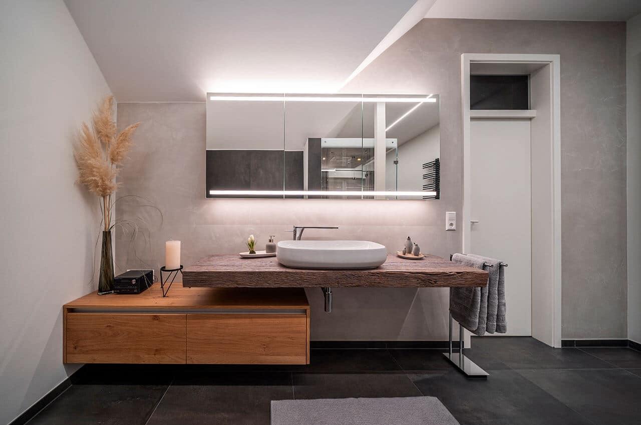 Objektreportage Badezimmer zum Wohlfühlen - Waschtisch