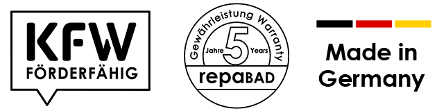 KfW | Förderfähig 5 Jahre Gewährleistung | Made in Germany